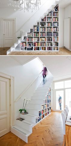 Organizing Your Home: Making the Best Use of Every Space -- This is a great post on decorating the small spaces of your home to make the most out of your storage potential! Design Your Home, House Design, Home Libraries, Under Stairs, Furniture For Small Spaces, Organizing Your Home, Design Case, Design Design, Interior Design Living Room