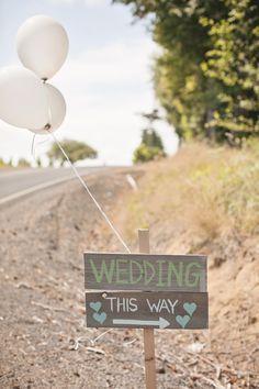 #signs  Photography: Amanda Lloyd Photography - amanda-lloyd.com  Read More: http://www.stylemepretty.com/2014/06/23/rustic-at-home-wedding/