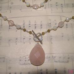 Elspeth  Rose quartz smoky quartz green garnet and by aileen