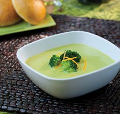 Broccoli Cheese Soup  Ingredients    1 cup (240 ml) skim or low fat milk  1/3 cup (38 g) shredded low fat cheddar cheese  1 1/2 cups (195 g) broccoli or cauliflower, fresh or frozen, steamed  1 teaspoon diced onion  1/2 chicken or vegetable bouillon cube