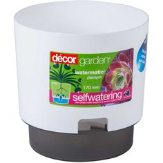 Watermatic self-watering plant-pots are designed with a classic style.