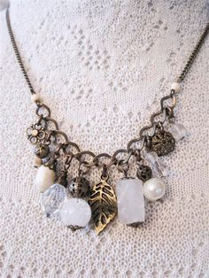Ebony Necklace by AliciasInfinity on Etsy | Lovely Clusters - Beautiful Etsy Shops