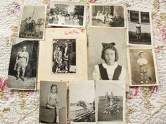 Set of Antique Photographs Perfect for Altered Art Mixed Media. $7,00, via Etsy.