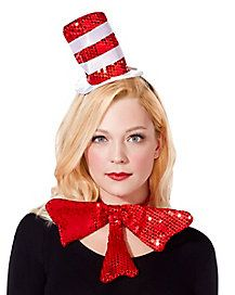 Seuss Cat in the Hat Mini Fascinator for Halloween Costumes for Women. Spirit Halloween, Halloween Party, Halloween Decorations, Halloween Costumes, Dr Seuss Costumes, Tutu Costumes, Mardi Grad, Dr Seuss Day, Red And White Stripes