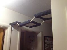 Carpeted Cat Hallway Rope Bridge for Shelves by CatShelfCompany, $44.99