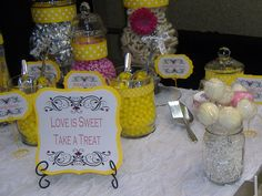 Candy Bar, Favor Tags, Candy Signs, Party, Bridal Shower