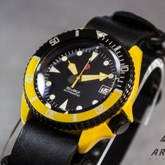 Z06 Corvette Yellow Seiko SKX007