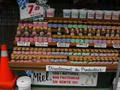 Flavored honey at Montreal's Jean Talon Market
