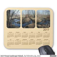 2017 Cream Landscape Calendar by Janz Mouse Pad