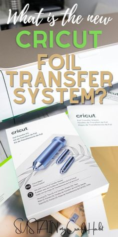 AD: Sharing our first impressions on the NEW Cricut Foil Transfer System which uses pressure to create beautiful long-lasting foil effects. It's a perfect way to add shine and elegance to a variety of crafts and projects! Get the scoop on this latest innovation on the blog. #cricutcreated #cricutmade
