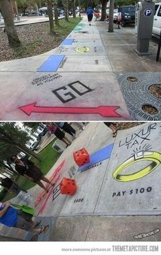Life-sized monopoly!