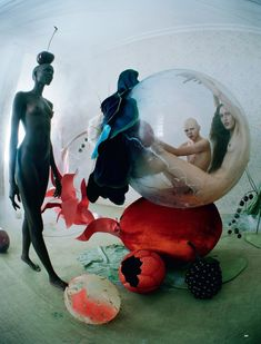 Tim Walker shot this great editorial inspired by the Flemish artist Hieronymus Bosch's Garden of Earthly Delights (see it at the bottom of ...
