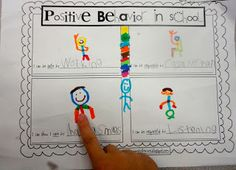 P.B.I.S. (Positive Behavior in School) Freebie to help students write and draw examples of being safe, responsible, respectful and caring in the classroom.