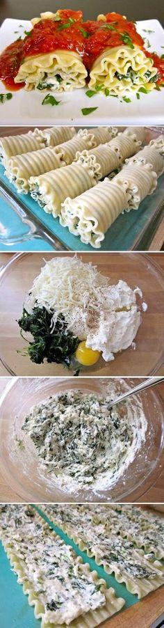 DIY Spinach Lasagna Rolls