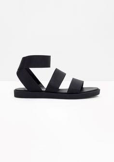 & Other Stories image 1 of  Elastic Strap Sandal in Black
