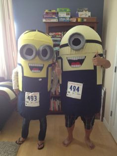 HOME MADE MINION COSTUMES