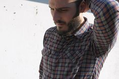 Ladulsatina - Camicia da uomo handmade scozzese - Negroni Shirt - Colette Patterns