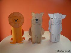 Lew, kot i owca stworzone z rolki po papierze toaletowym :)  #lew #kot #owca #kotek #owieczka #rolkapopapierze #handmade #plastykawprzedszkolu #przedszkole #lubietworzyc #DIY #lion #cat #sheep #toiletroll #artclassinpreschool #preschool #kindergarten #kidscraft #papercraft