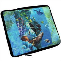 Tropical Reef Splatter iPad Tablet Sleeve