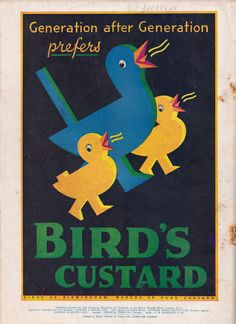 Bird's Custard advert - issued by Alfred Bird, Birmingham - November 1933 | Flickr - Photo Sharing!