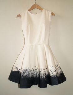 Paint the hem of a light-colored dress.