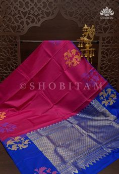 Borderless Pure Kanjivaram Soft Silk Saree With Flying Parrot Motifs M – Shobitam Kanjivaram Sarees, Soft Silk Sarees, Blue Blouse, Color Combinations, Parrot, Weaving, Things To Come, Delicate, Pure Products