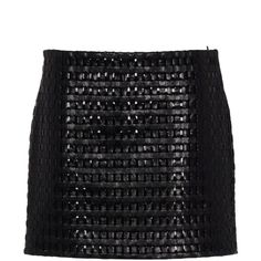 PROENZA SCHOULER Leather skirt ($940) ❤ liked on Polyvore