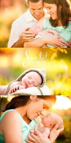 Outdoor Newborn Photography shoot by Brisbane photographers Sunlit Studios. We can't pick a favourite - can you?