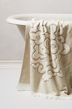 New bath and hand towels Jacquard Medallion Towel #anthropologie