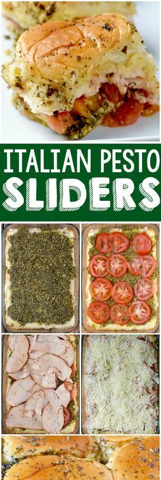 These Italian Pesto Sliders are easy to throw together and so delicious! Perfect for a party or easy weeknight meal! Ingredients 24 slider rolls, cut in half, but not pulled apart 1 cup pesto 2 vine ripened tomatoes, sliced thin … Pesto, Sammy, Italian Appetizers, Easy Weeknight Meals, Easy Meals, Wine Parties, Light Recipes, Clean Eating Snacks, Sliders