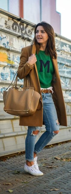 Comfy Camel Coat + Lovely Sweater
