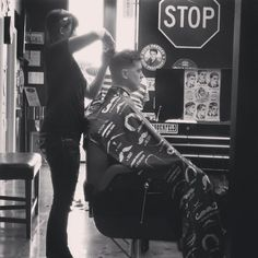 Barber Shop Killeen : Station Barber Garage - Killeen, TX, United States. Lady barber ...