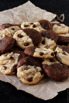 The true flavor of a brownie cookie together with the softest chocolate chip cookie out there, makes the BEST Brookies EVER! | urbanbakes.com
