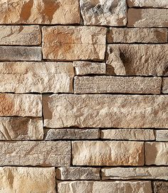 Dutch Quality Natural Blend Weather Ledge thin stone veneer is designed to provide moderate shadow relief when grouted or when utilizing the dry-stack technique. This thin stone veneer brings all the natural colors of lighter toned tans with subtle hints Stone Siding, Stone Cladding, Stone Exterior, Brick And Stone, Faux Stone, Stone Work, Dry Stack Stone, Brick Face, Manufactured Stone Veneer