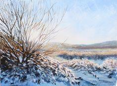 'Low sun on snow' Acrylic on Canvas   https://www.facebook.com/pages/Rita-Readman-Art/270262966411327