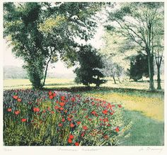 Summer Meadow (Restrike Etching) by Jo Barry