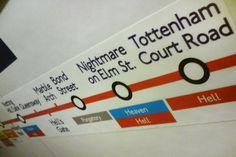 Er hangen hilarische nep-bordjes in de Londense metro | NSMBL.nl