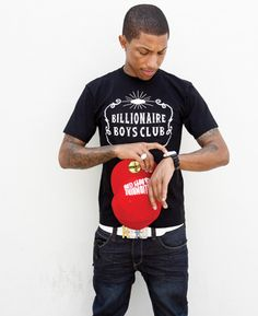 """""""Let's just say I'm blessed to have my own company. Whatever I want, I can have it made."""" - Pharrel Williams - Billionaire Boys Club"""