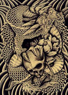 dragon skull tattoo - Google Search