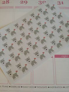 Schnauzer Stickers! Perfect for your Erin Condren Life Planner, calendar, Paper Plum, Filofax!  by PlanningMadeEasy on Etsy https://www.etsy.com/listing/226100538/schnauzer-stickers-perfect-for-your-erin