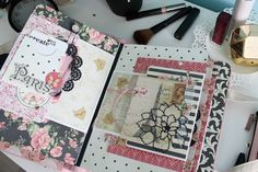 Canvas Purse mini album created by Evgeniya Tipikina