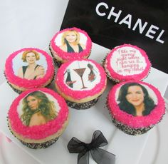 Sex and the City edible cupcake toppers