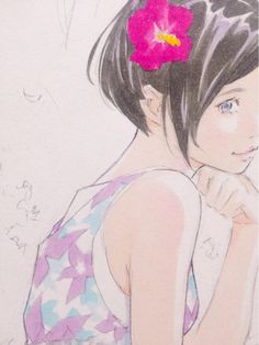 "窪之内英策 Eisaku on Twitter: ""夏色ワンピ。 http://t.co/qrDaFgndck"""