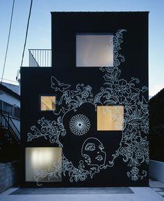 sin den ~ klein dytham architects    Looks like a HUGE CHALKBOARD!! ♥