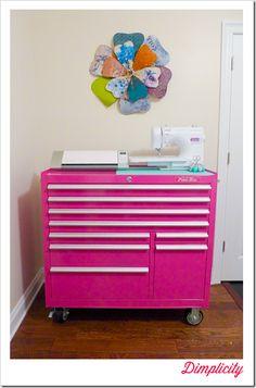 Tool Box Craft Storage. The Original Pink Box for organizing