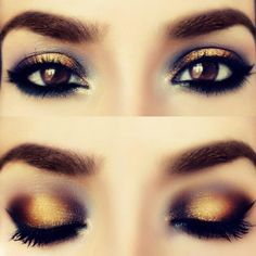 Eyes. Want gold eyeshadow!!!