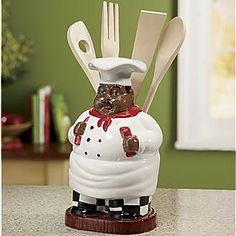 black chef kitchen utensil holder -- Check this awesome product by going to the link at the image.