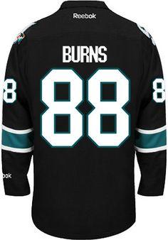 San Jose Sharks Brent Burns Official Third Alt Reebok Premier Replica Adult NHL Hockey Jersey