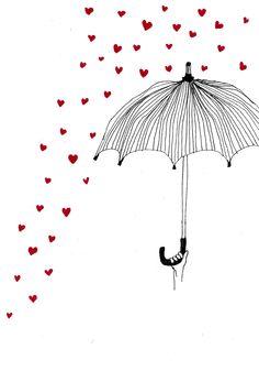 umberella Art Et Illustration, Illustrations, Conversational Prints, Brollies, Umbrellas Parasols, Under My Umbrella, Kids Poster, Zen Art, Relief Society