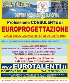 Master europrogettazione a salerno-vallo dal 26 al 28 ottobre